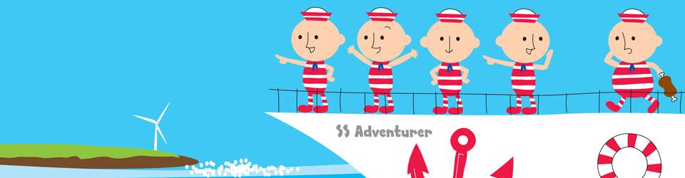 SS Adventurer cartoon