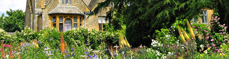 A typical Cotswolds garden filled with wild flowers