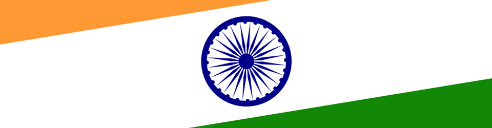 Section of the the flag of India