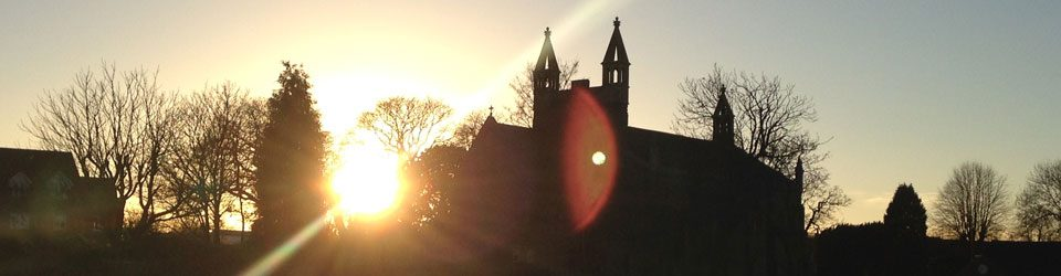 Sunrise over Christ Church Downend