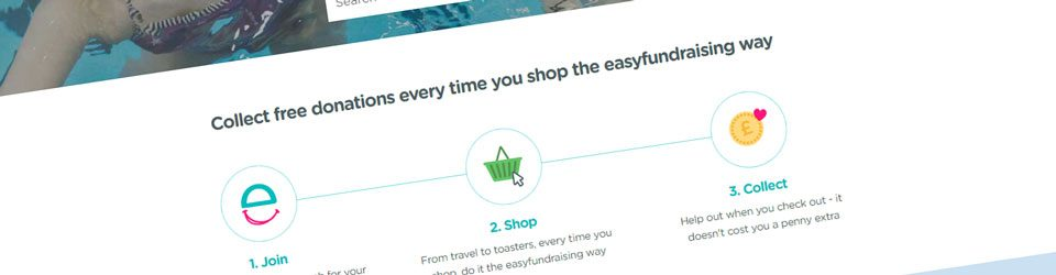 Screen grab from the easyfundraising website