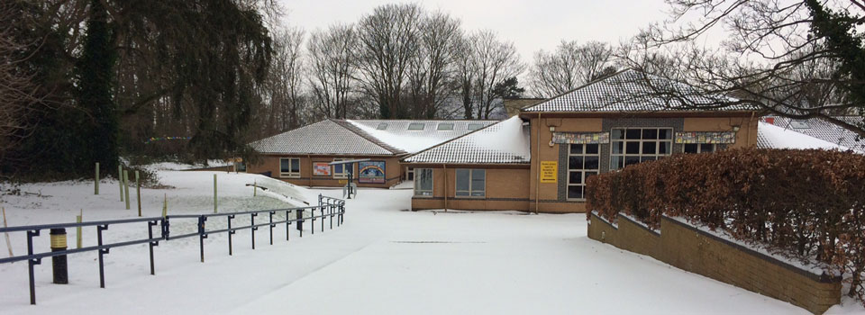 Christ Church Junior School in the snow.