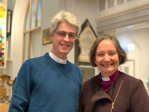 Bishop Viv of Bristol with Rev Jo Vickery