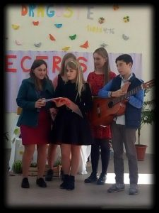 An image of a small group of singers in Pastor Misha's church