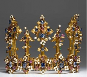 Image of The Crown of Princess Blanche, also called the Palatine Crown or Bohemian Crown.