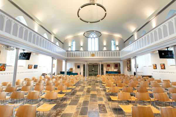 Interior view of the newly refurbished Christ Church Downend