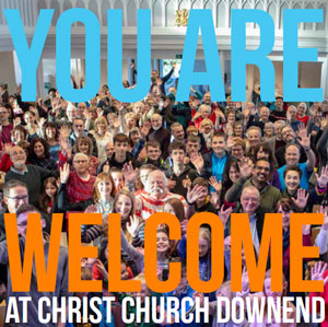 Cover of Christ Church Downend's welcome booklet